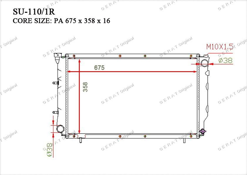 Радиатор основной 45199AA080