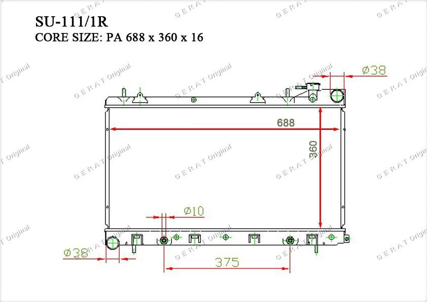 Радиатор основной 45111SA131