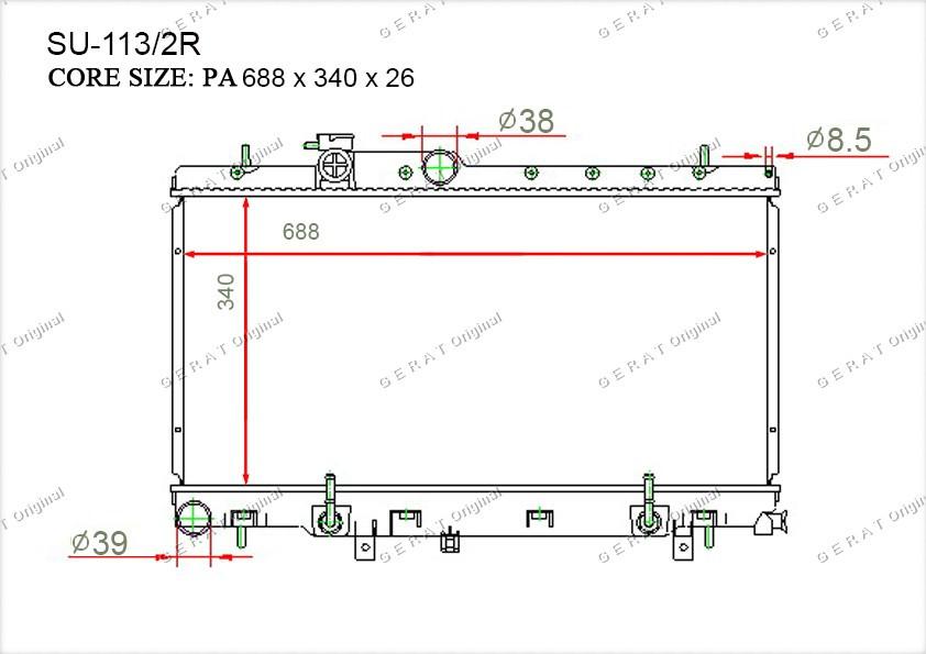 Радиатор основной 32007317