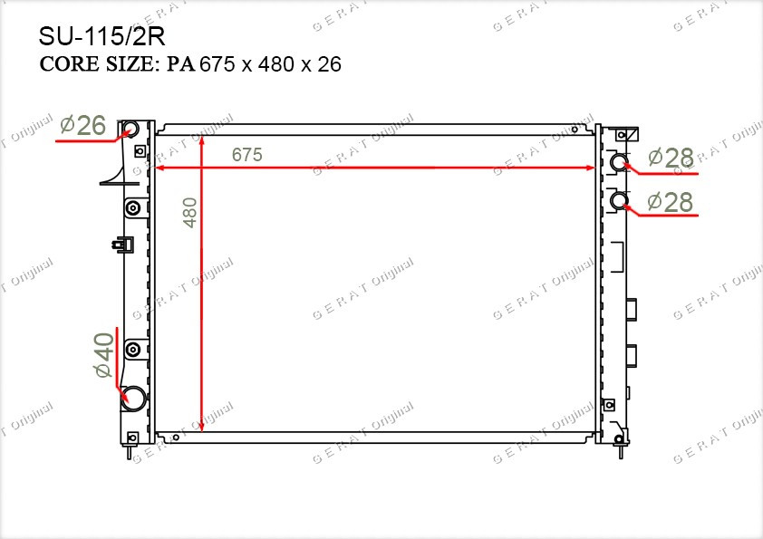 Радиатор основной 45111XA00A
