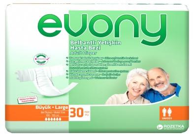 Подгузники взрослые Evony Large 30шт