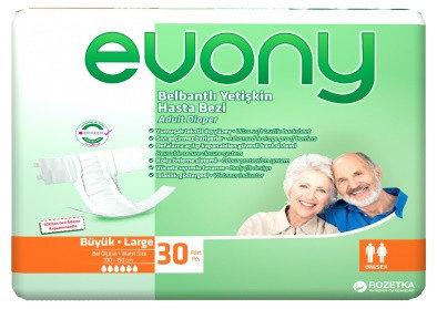 Подгузники взрослые Evony Large 30шт, фото 2