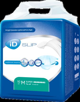 Подгузники д/взрослых ID Slip М Super 10 шт (7631), фото 2