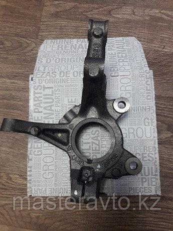 Кулак поворотный передний LH под ABS ОРИГИНАЛ Logan II 2014>;Logan 2005-2014;Sandero 2014>NEW