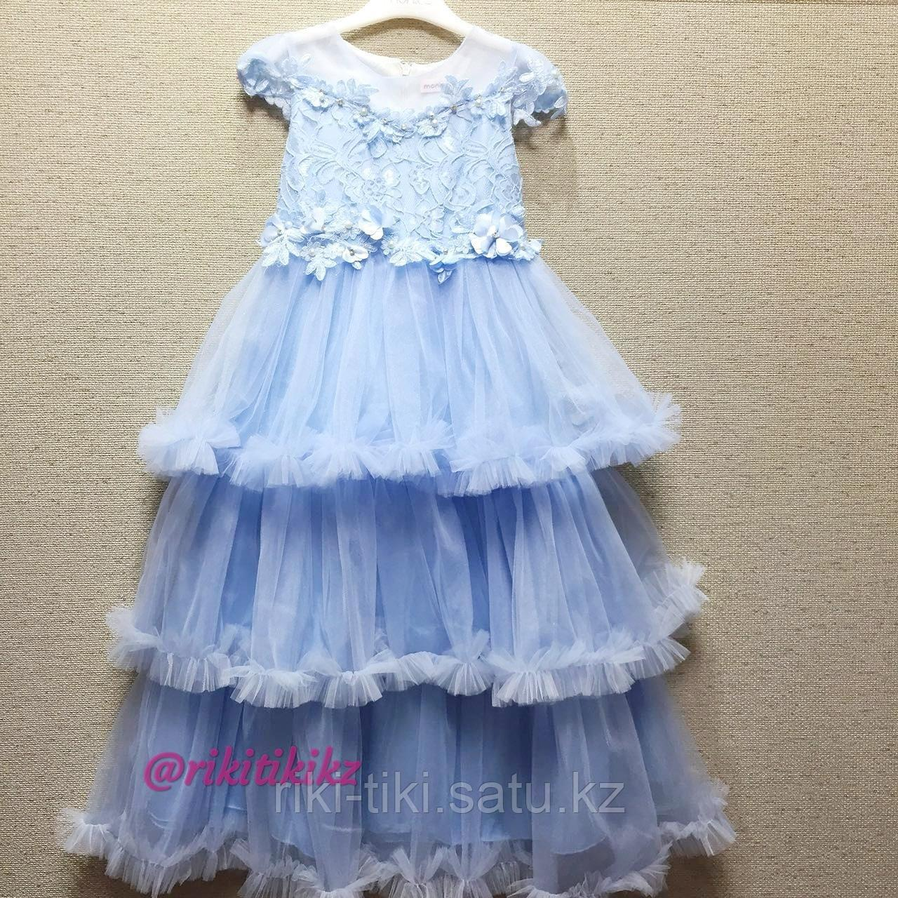 Нарядное платье нежно голубого цвета