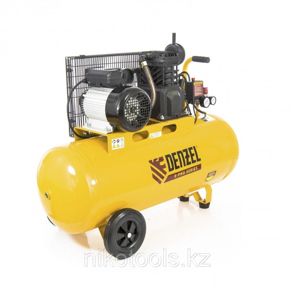 Компрессор воздушный PC 2/100-400, Х-PRO, ременный, 2.3 кВт, 400 л/мин, 100 л, 10 бар. DENZEL