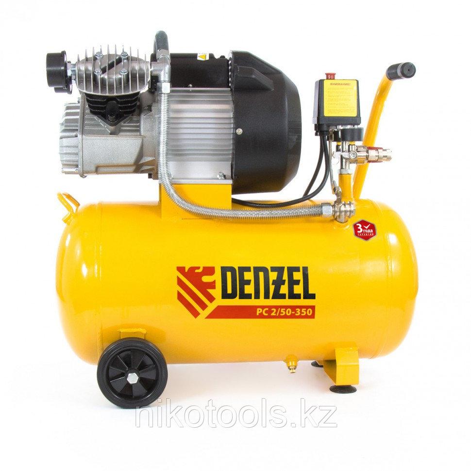 Компрессор пневматический, 2,2 кВт, 350 л/мин, 50 л. DENZEL