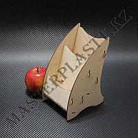Буклетница деревянная А6 двухъярусная, фото 1