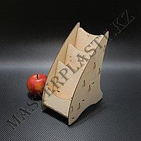 Буклетница деревянная А6 трехъярусная, фото 1