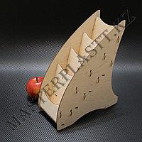 Буклетница деревянная А6 четырехъярусная