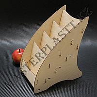 Буклетница деревянная А5 трехъярусная, фото 1