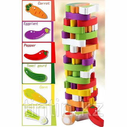 Настольная игра - Овощная башня, 54 брусков, фото 2