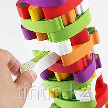 Настольная игра - Овощная башня, 54 брусков, фото 3