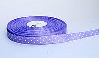 Лента упаковочная, в горошек, светло-фиолетовая, 1.5 см