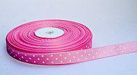 Лента упаковочная, в горошек, светло-розовая, 1.5 см