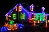 """Гирлянды светодиодные, новогодние, уличные струна, нить, LED гирлянда """" Бегущие огоньки"""", фото 3"""
