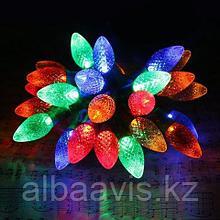 """Гирлянды светодиодные, новогодние, уличная гирлянда led гирлянда лед LED гирлянда 8 метров """" Еловые Шишки """""""