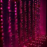 Гирлянды светодиодные, новогодние, уличные Водопад. 2*2 метра, фото 4