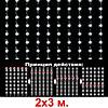 Гирлянды светодиодные, новогодние, уличные Водопад. 2*3 и 3*2 метра, фото 8