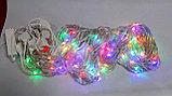 Гирлянды светодиодные, новогодние, уличные Водопад. 3*8 метров RGB, синий, белый, желтый и др. цвета, фото 7