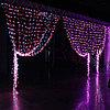 Гирлянды светодиодные, новогодние, уличные Водопад. 3*8 метров RGB, синий, белый, желтый и др. цвета, фото 2