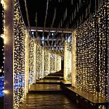 Гирлянды светодиодные, новогодние, уличные Водопад. 3*8 метров RGB, синий, белый, желтый и др. цвета, фото 4