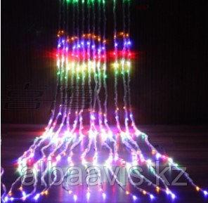 Гирлянды светодиодные, новогодние, уличные Водопад. 3*12 метров RGB, синий, белый, желтый и др. цвета