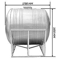 Емкость горизонтальная ALSI 304 - 2,0 м3-- 1700 х 1650