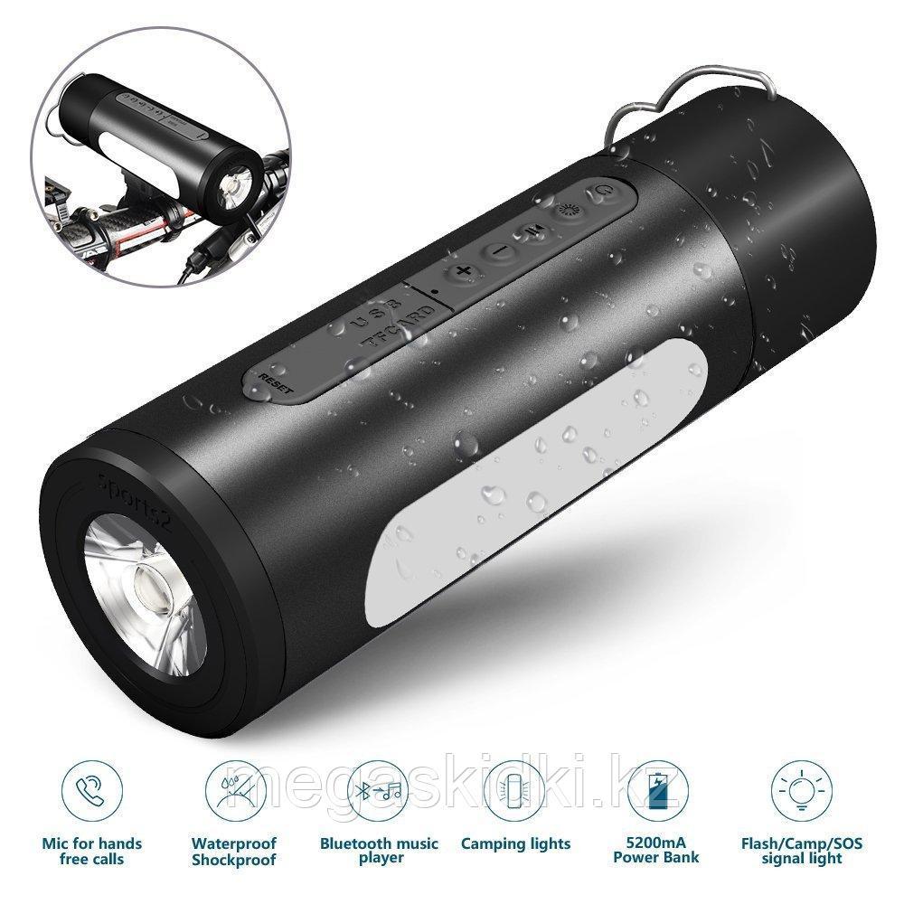 Колонка Bluetooth с фонариком для велосипеда и кемпинга M-01