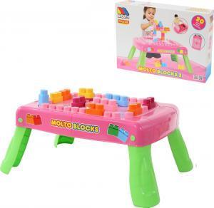 58003 Полесье Набор игровой с конструктором 20 элементов в коробке розовый