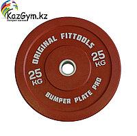 Диск бамперный 25 кг (красный)