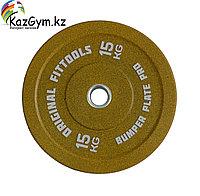 Диск бамперный 15 кг (желтый), фото 1