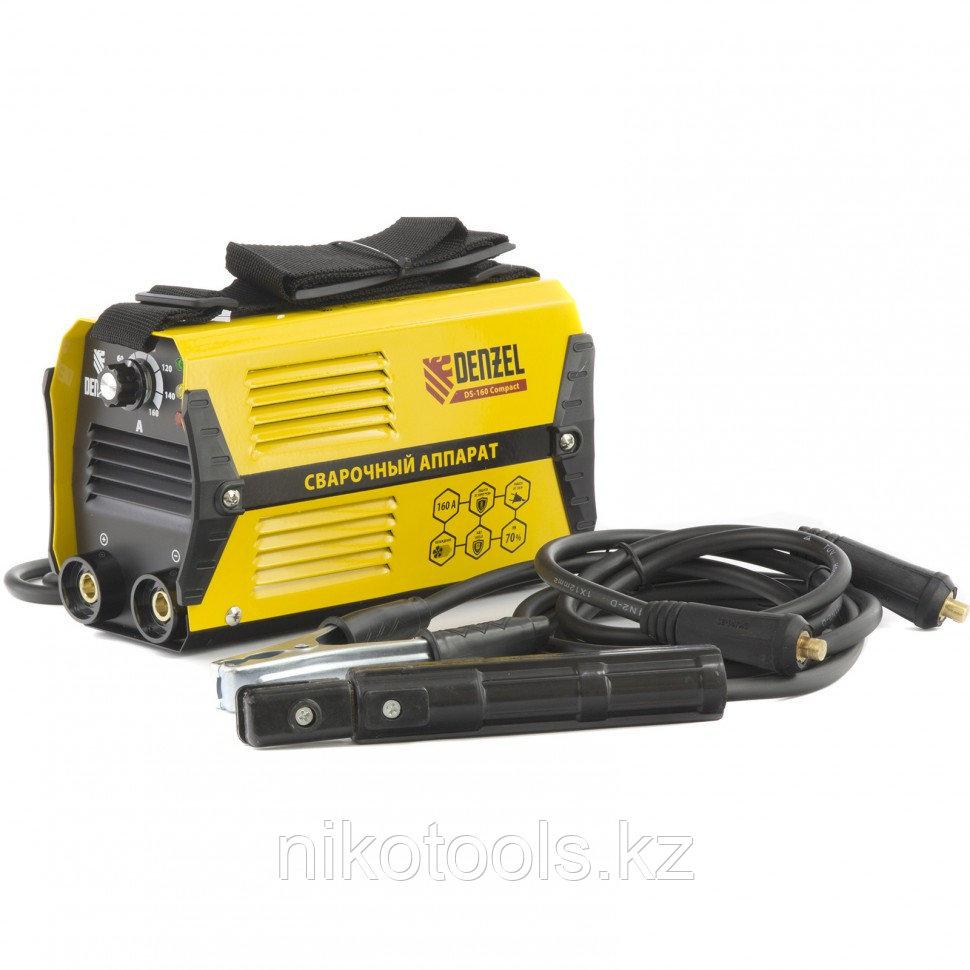 Аппарат инверторный дуговой сварки DS-160 Compact, 160 А, ПВ 70%, D электрода 1,6-3,2 мм. DENZEL