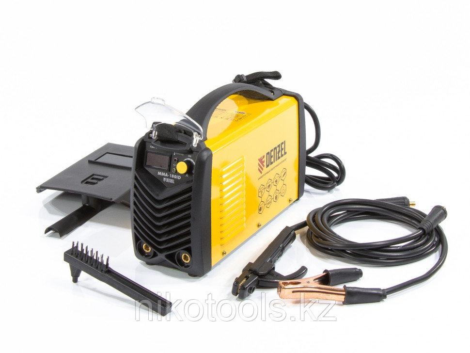 Аппарат инверторный дуговой сварки ММА-180ID, 180 А, ПВР 60%, D электрода 1,6-4 мм, провод 2 м. DENZEL