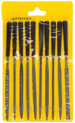 """Набор STAYER """"MASTER"""" Надфили с пластмассовой ручкой, 100мм, 10шт , фото 2"""