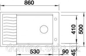 Мойка Blanco Elon XL 8S антрацит (520484) - фото 2
