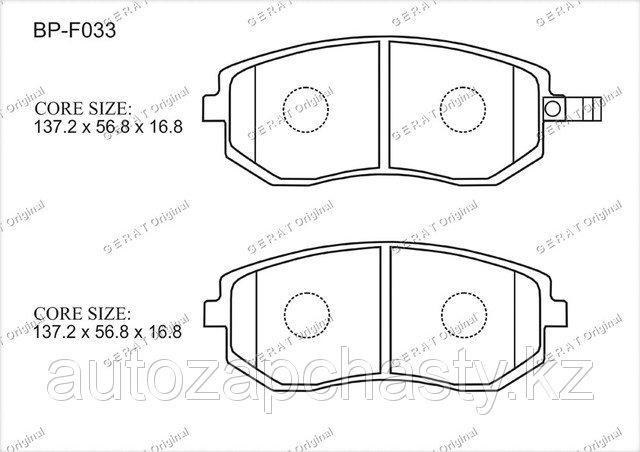 Колодки тормозные передние 26296AE160