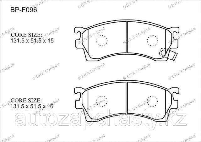 Колодки тормозные передние G5Y63323Z