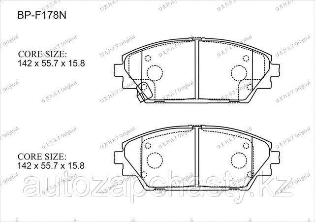 Колодки тормозные передние B4Y03328ZA