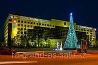 Новогоднее оформление фасада ( здания)