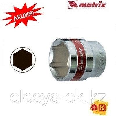 """Головка торцевая, 32 мм, 6-гранная, CrV, под квадрат 1/2"""", хромированная// MATRIX MASTER, фото 2"""
