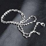 Цепочка «Алмазные грани» в серебре, фото 9
