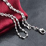 Цепочка «Алмазные грани» в серебре, фото 2