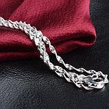 Цепочка «Алмазные грани» в серебре, фото 7