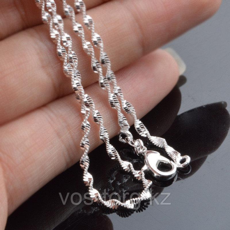 Цепочка «Алмазные грани» в серебре