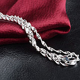 Цепочка «Алмазные грани» в серебре, фото 6