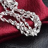 Цепочка «Алмазные грани» в серебре, фото 8