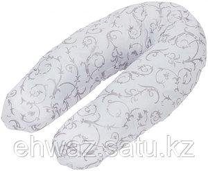 Подушка для беременных Roxy Kids Белая с узором (мягкий наполнитель)