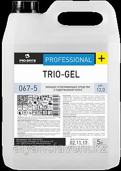 Trio-gel - средство для мытья унитазов и сантехники .5 литорв. РФ, фото 2