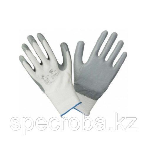Перчатки нейлоновые с нитриловым покрытием ЛЮКС (АНТИ ПОРЕЗ)